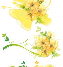 Water Mark Yellow Flower Vector Art