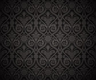 Dark Shading Floral Pattern Background Vector
