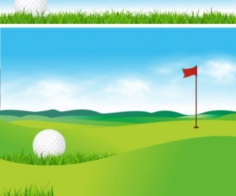 Golf Sport Background Vector Graphics