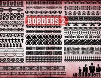 Border Silhouette Frame Vector Graphics