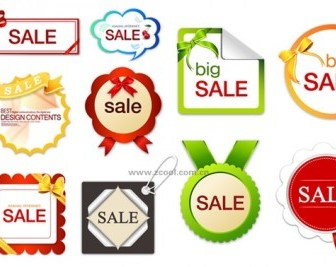10 Sale Discount Tag Vectors