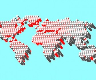 Vector World Map Dotted Texture