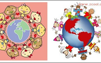 Hand around The Earth Vector