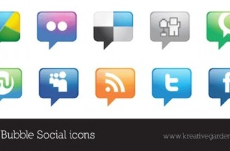 Vector Social Icons Talk Bubble Style