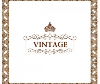 Vintage Lace Pattern Border Vector