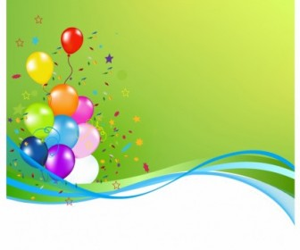 Party Balloon Vector Banner