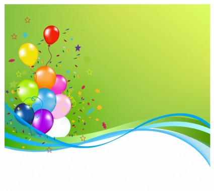 Party Balloon Vector Banner Ai Svg Eps Vector Free