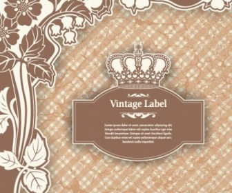 Classic Label Pattern Vector