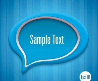Message Bubble Template Vector
