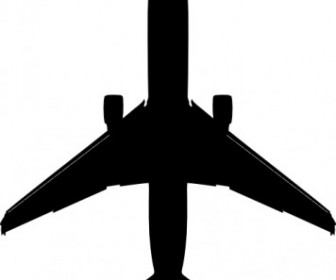 Silhouette Airplane Vector