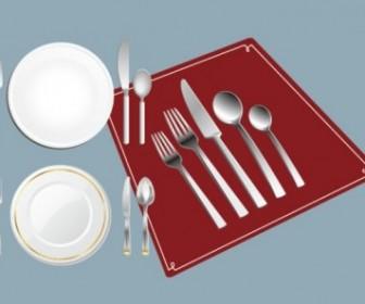 Tableware Set Vector