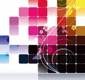 Rectangle Color Background Vector Art