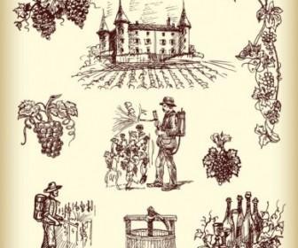 Wine Handpainted Vector Art
