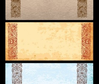 Classical Old Paper Vector Pattern