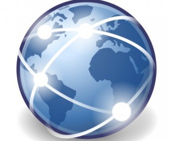 Internet Globe Vector Icon