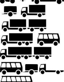 Simple Vehicle Silhouette Vectors