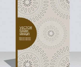 Classic Pattern Book Cover Vector