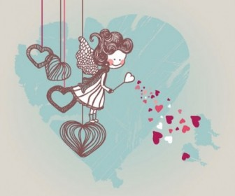 Vector Valentine Cartoon Illustration