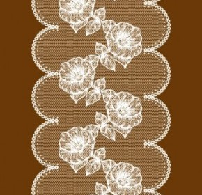 FLower Lace Pattern Vector Background