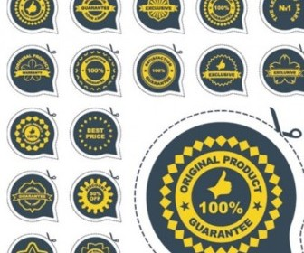 Modern Badge Labels Vectors