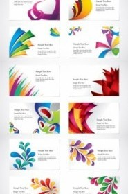 Colorful Vector Card Template