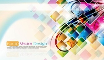 Rectangle Colorful Background Vector