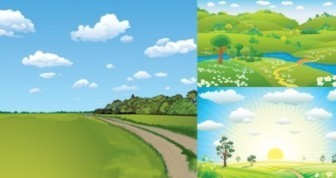 Natural Landscape Vector Background
