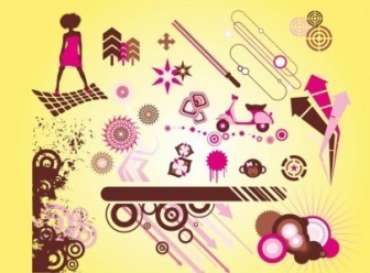 Cool Graphic Elements Vector Art