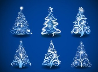 Vector Gorgeous Tree 01 Christmas Vector Graphics
