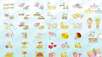 Vector Cute Material Goods2 Icon Vector Graphics