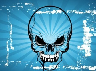 Vector Terror Skull Cartoon Vector Art