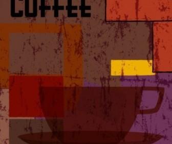 Retro Abstract Coffee Menu Vector