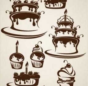 Silhouette Cake Vector