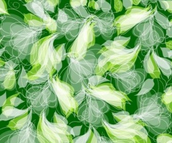 Vector Green Floral Pattern Seamless Background Vector Art