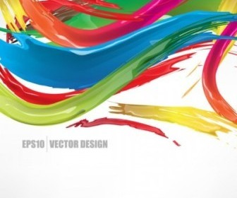 Exquisite Color Lines Background Vector