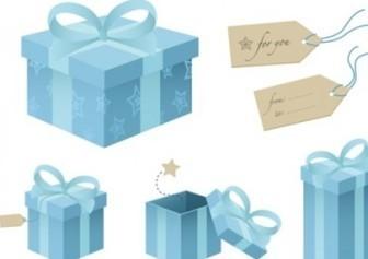 Blue Gift Box Vectors