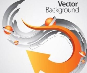 Vector Dynamic 2 Arrow Background Vector Art