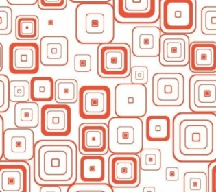 Seamless Vector Round Square Pattern