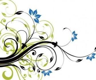Swirl Floral Corner Frame Vector