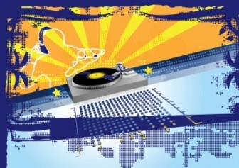 Vector Party DJ Vector Art