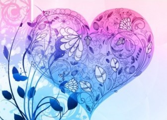 Vector Valentine Heart Floral