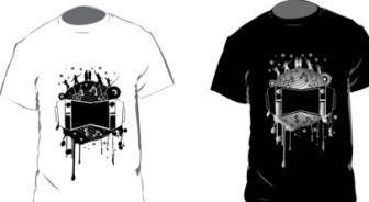 Black and White T-shirt Vector