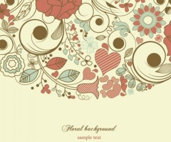 Elegant Floral Pattern Background Vector Art
