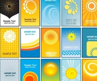 Sun Theme Vector Card Background