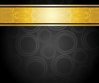 Gorgeous Gold Pattern Background Vector Art