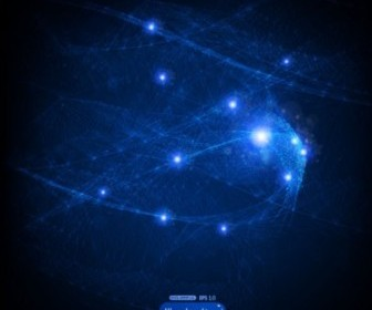 Blue Flow Background Vector Graphics