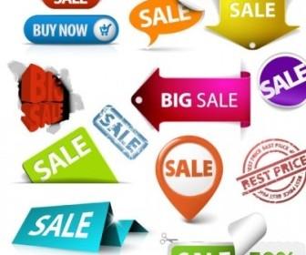 Beautiful Sale Tags Vector