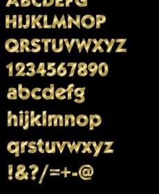 Gold Effect Alphabet Letter Vector Design