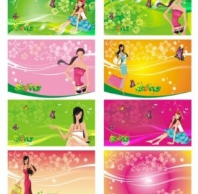 Shopping Women Vector People