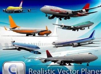 Realistic AirPlanes Vector